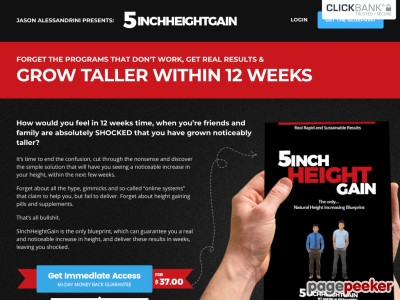 5InchHeightGain - How To Grow Taller & Increase Your Height!