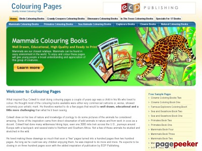 Coloring Pages | Colouring Books | Quality Animal Colouring Pages