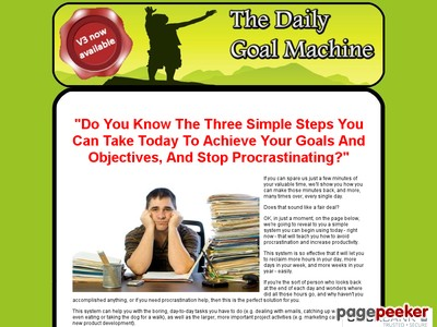 The Daily Goal Machine - Increase Productivity & Get Things Done