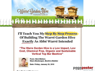 DIYBeehive.com | Build Your Own Warre Garden Backyard Top Bar Bee Hive