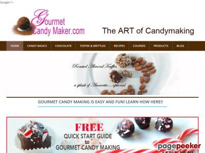 Holiday Candy Course Sales page