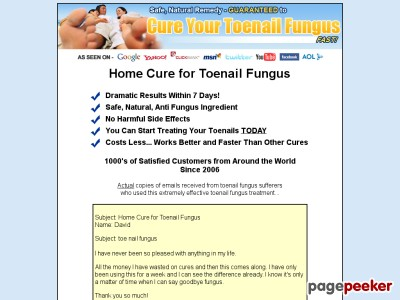 Home Cure for Toenail Fungus - 7 Day Results!
