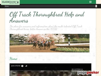 Ebook for OTTB Owners! – Off Track Thoroughbred Help and Answers