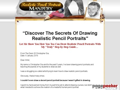 Realistic Pencil Portrait Mastery Home Study Course