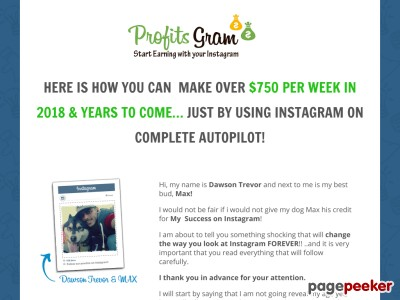 Instagram Auto-Income 2018 - Join Now - Make Money - ProfitsGram