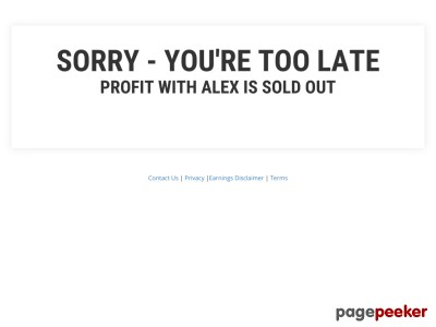 New Offer! Profit With Alex - 75% Commission & Bonuses