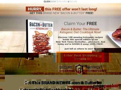 FREE Bacon & Butter: The Ultimate Ketogenic Diet Cookbook