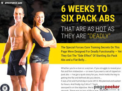 """SpecForce Abs - 6 WEEKS TO SIX PACK ABS THAT ARE AS HOT AS THEY ARE """"D..."""