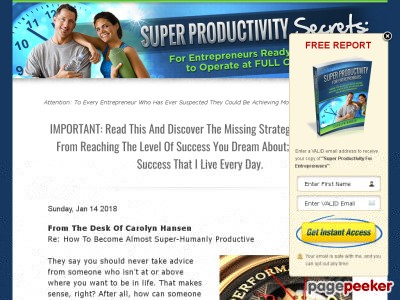 Super Productivity Secrets: For Entrepreneurs Ready And Willing To Ope...
