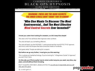 Secrets Of Covert Hypnosis | Black Ops : Darkside Edition