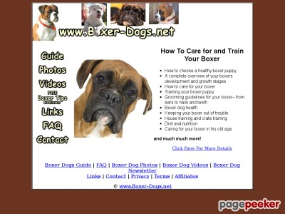 Boxer Dogs - A Guide To Boxer Dogs