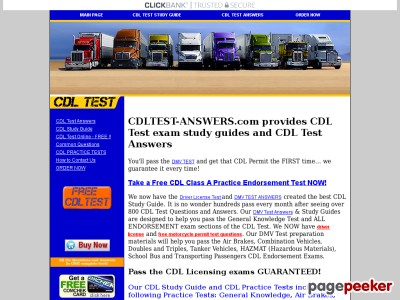 CDL TEST ANSWERS - Driver License Test questions and answers   HAZMAT ...