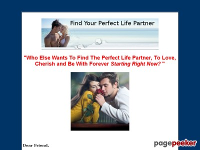 Find Your Perfect Life Partner.