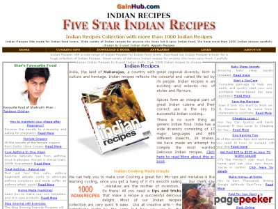 Indian Recipes : FIVE STAR INDIAN RECIPES 1000+ Chef Style Recipes of ...