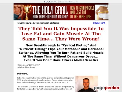 Holy Grail Body Transformation, Lose Fat and Gain Muscle, Body Recompo...