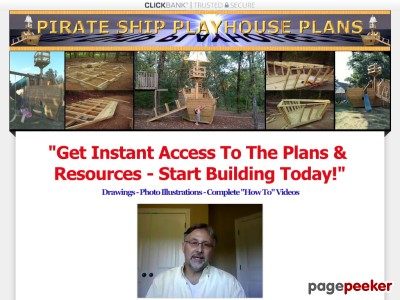 Pirate Ship | Plans to build a childrens wooden Pirate Ship Playhouse