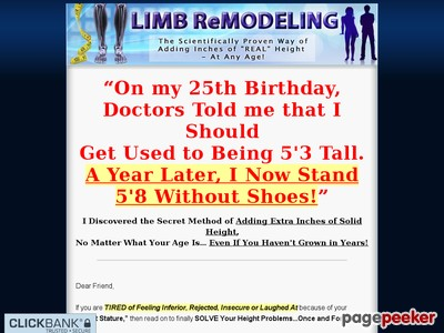 Limb Remodeling - The Scientifically Proven Way of Adding Inches of Re...