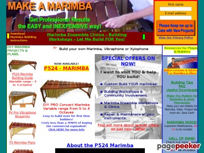 Download Plans to Make or build a marimba, vibraphone, xylophone, gloc...