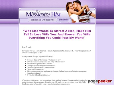 Mesmerize Him... And Make Him Love You Forever
