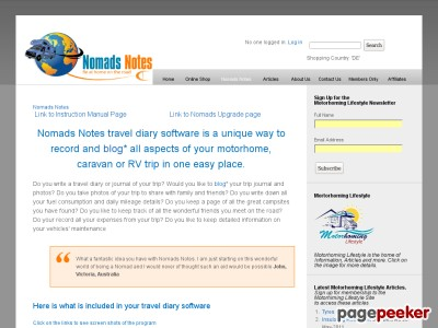 Nomads Notes Travel Diary Software