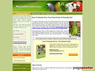 Discover an Explosive New Parrot Training System