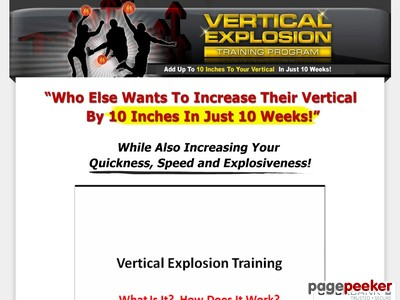 Vertical Explosion Training Program - Jump Higher & Increase Vertical ...
