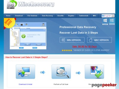 Best Data  Recovery Software - Since 2002 - WiseRecovery™