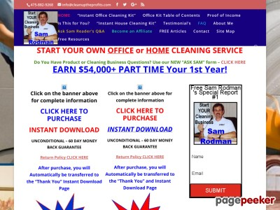 Sam Rodman;s How To Setup Your Own Office, or House Cleaning Business ...