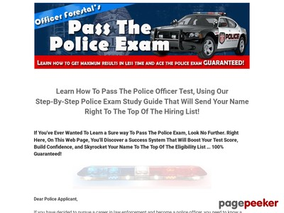 Pass The Police Exam: Police Written Test Study Guide