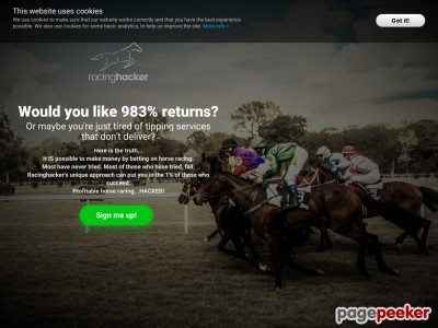 racinghacker - profitable horse racing HACKED