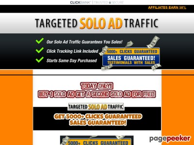 1 Targeted Solo Ad Traffic - Get 5000+ Clicks - Sales Guaranteed!