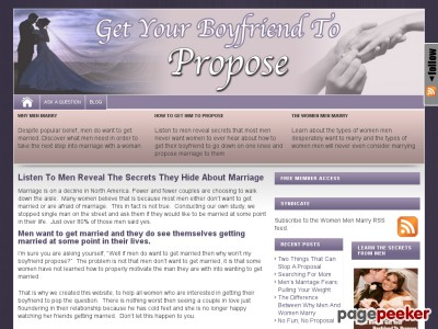 Discover Why Men Marry