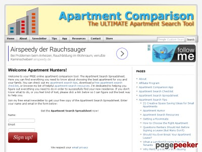 Welcome Apartment Hunters!