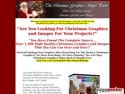 The Christmas Graphics Super Pack at Christmas Graphics Collection.com