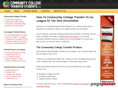 Community College Guide – How To Transfer To Ivy League & T...