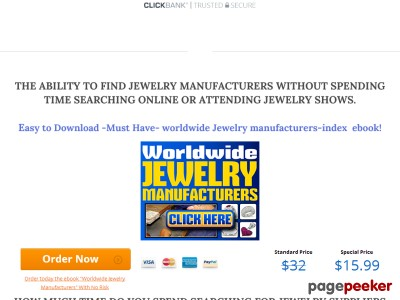 worldwide jewelry suppliers and manufacturers
