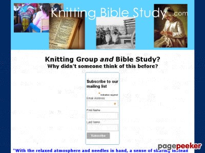 Get the Knitting Bible Study Here