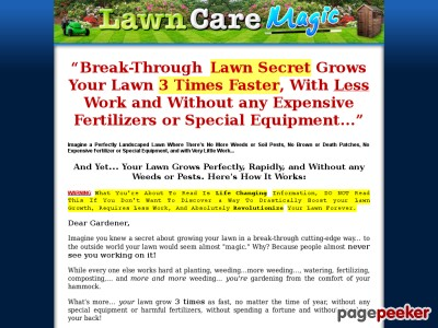 Lawn Care Magic - Grows the Perfect Lawn Fast and Without any Weeds or...