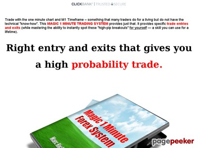 Magic 1 Minute Forex Trading System - 1 Minute chart trading
