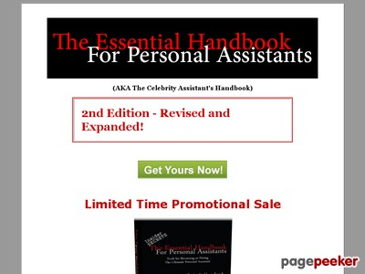 The Personal Assistant's Handbook - Insider secrets to landing the bes...
