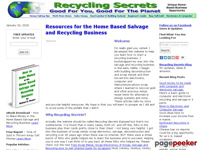 How to Make Money in the Home Based Salvage and Recycling Business