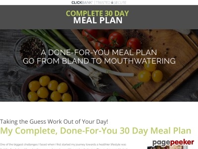 30 Day Meal Plan – Easy, mouthwatering recipes