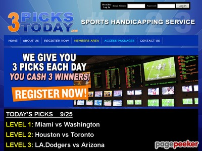 3PicksToday.com - Sports Handicapping Service