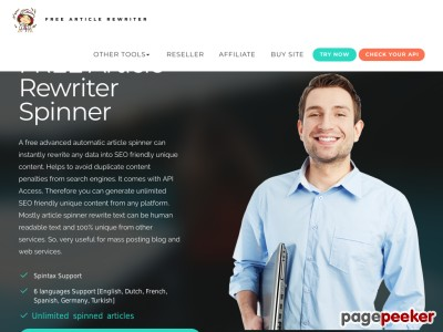 SEO Article Rewriter Spinner