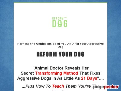 Reform Your Dog