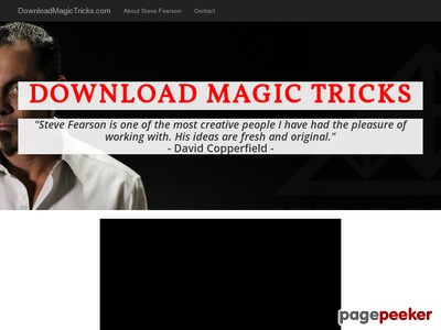 Download Magic Tricks from Steve Fearson