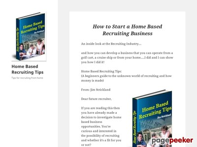 Home Based Recruiting Tips – Tips for recruiting from home
