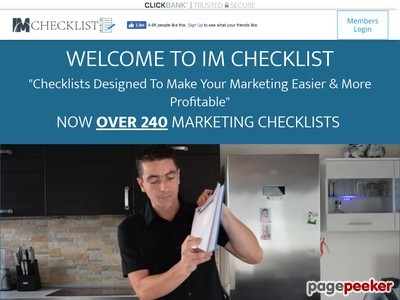 IM Checklist – Online Marketing Checklists With PLR (CLICKBANK) – IM Check...