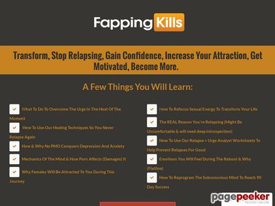 Fapping Kills - Get To The 90 Day Reboot