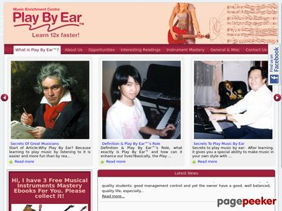 Play By Ear Home Page